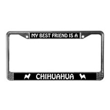 Long Haired Chihuahua Best Friend License Frame