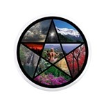 """Pentacle Collage 3.5"""" Button (100 pack)"""