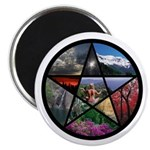 """Pentacle Collage 2.25"""" Magnet (10 pack)"""