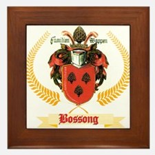 German Bossong Coat of Arms Framed Tile