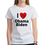I Love Obama Biden (Front) Women's T-Shirt