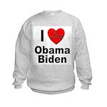 I Love Obama Biden Kids Sweatshirt