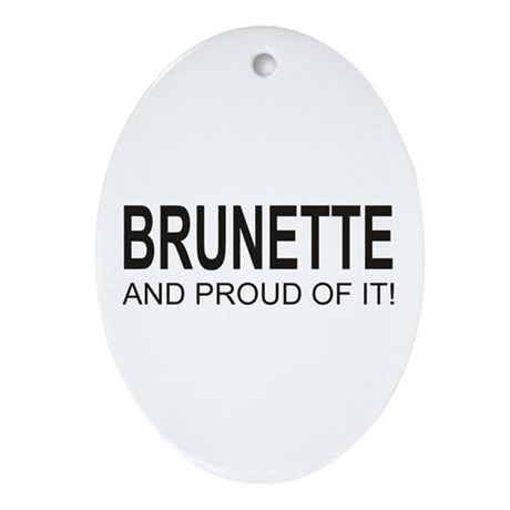 The Brunette Oval Ornament