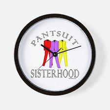 PANTSUIT SISTERHOOD Wall Clock