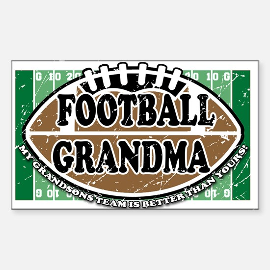 Football Grandma Rectangle Decal