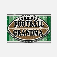 Football Grandma Rectangle Magnet