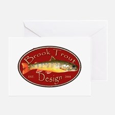Brook Trout Logo Greeting Card