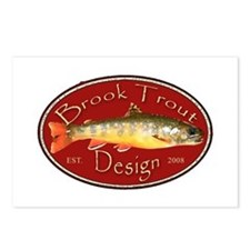 Brook Trout Logo Postcards (Package of 8)