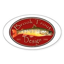Brook Trout Logo Oval Decal