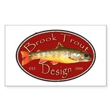 Brook Trout Logo Rectangle Decal