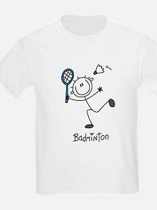 Stick Figure Badminton T-Shirt