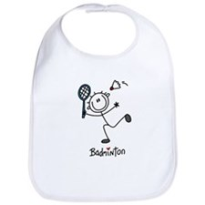 Stick Figure Badminton Bib
