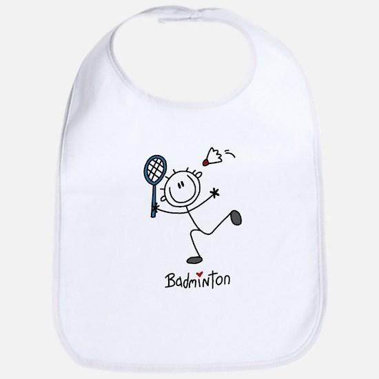 Stick Figure Badminton Bib