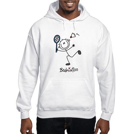 Stick Figure Badminton Hooded Sweatshirt