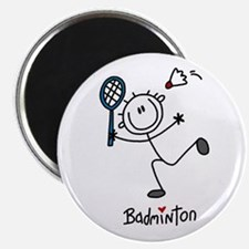 "Stick Figure Badminton 2.25"" Magnet (10 pack)"