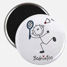 "Stick Figure Badminton 2.25"" Magnet (100 pack)"