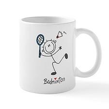 Stick Figure Badminton Mug