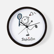 Stick Figure Badminton Wall Clock