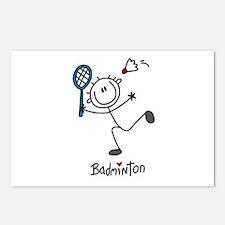 Stick Figure Badminton Postcards (Package of 8)