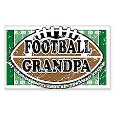 Football Grandpa Rectangle Decal