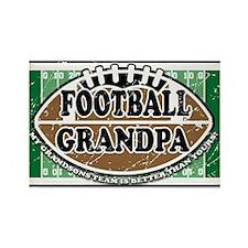 Football Grandpa Rectangle Magnet