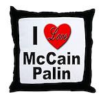 I Love McCain Palin Throw Pillow