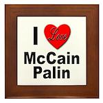 I Love McCain Palin Framed Tile