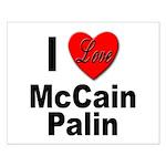 I Love McCain Palin Small Poster