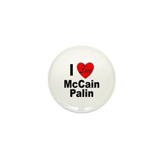 I Love McCain Palin Mini Button (10 pack)