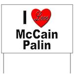I Love McCain Palin Yard Sign