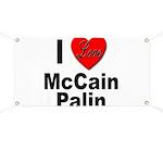 I Love McCain Palin Banner