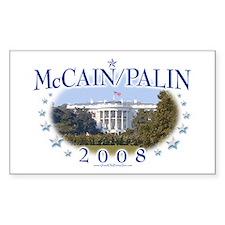 McCain Palin White House Rectangle Decal