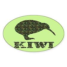 Camouflage Kiwi Oval Decal