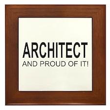 The Proud Architect Framed Tile