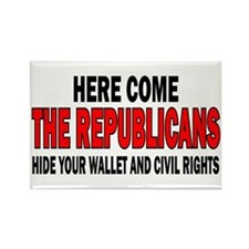 Here come the Republicans Rectangle Magnet