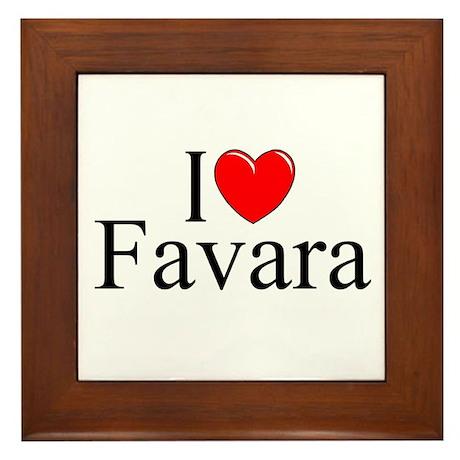 """""""I Love (Heart) Favara"""" Framed Tile"""