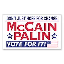 McCain Palin 2008 Rectangle Sticker 10 pk)