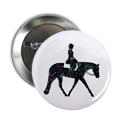 "Hunter Floral 2.25"" Button"