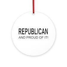 The Proud Republican Ornament (Round)