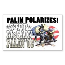 Palin Polarizes Rectangle Decal