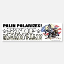 Palin Polarizes Bumper Bumper Bumper Sticker