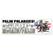 Palin Polarizes Bumper Bumper Sticker