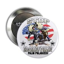 "Palin Polarizes 2.25"" Button"