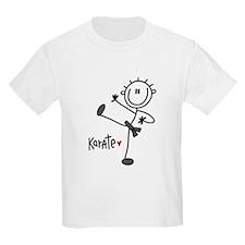 Stick Figure Karate T-Shirt