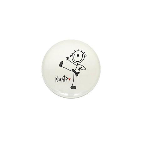 Stick Figure Karate Mini Button