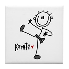 Stick Figure Karate Tile Coaster