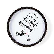 Stick Figure Karate Wall Clock