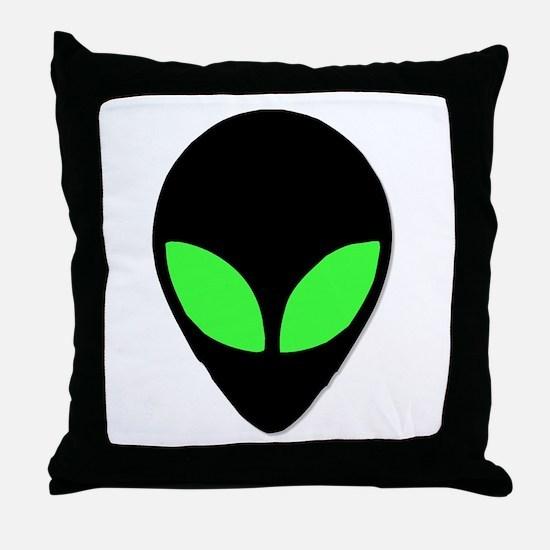 Alien Head Design 3 Throw Pillow