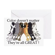 N6 Color Doesn't Matter Greeting Card
