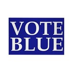 Vote Blue Rectangle Magnet (100 pack)